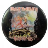Iron Maiden - 'Runs to the Hills' Button Badge